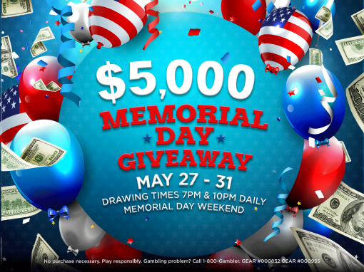 $5K Memorial Day Giveaway